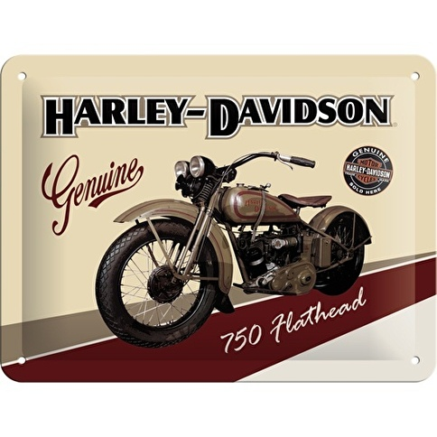 Nostalgic Art Harley Davidson Metal Kabartmalı Pin Up Duvar Panosu Renkli